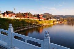 Alte chinesische Gartenarchitektur Lizenzfreie Stockbilder