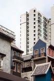 Alte chinesische Gebäudeart Stockbild