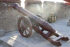 Alte chinesische Kanonen stockbild