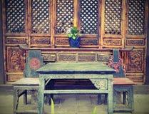 Alte chinesische Tabelle Lizenzfreies Stockbild