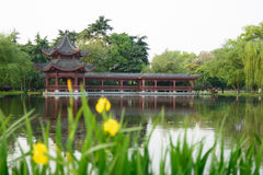Alte chinesische traditionelle Landschaft, Südchina Lizenzfreies Stockfoto