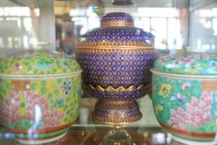 Alte chinesische und thailändische Glasur Stockbilder