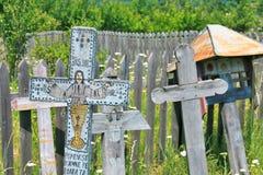 Alte Christkreuze Valcea Region Lizenzfreie Stockbilder