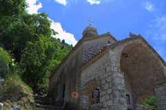 Alte christliche Kapelle, Montenegro, Balkan Lizenzfreies Stockbild