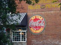 Alte Coca Cola Advertisement Stockfotografie