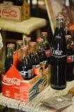 Alte Coca-Cola-Flaschen Lizenzfreies Stockbild