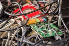 Alte Computer-Kabel und Geräte Lizenzfreies Stockfoto