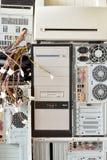 Alte Computer und Computerzubehör für die elektronische Wiederverwertung Lizenzfreie Stockfotos