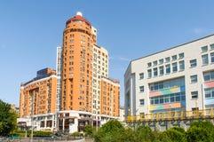Alte costruzione e scuola a Kiev Immagini Stock Libere da Diritti