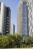 Alte costruzioni di appartamento di aumento Orizzonte di Austin, il Texas Fotografia Stock Libera da Diritti