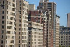 Alte costruzioni di appartamento di aumento del Chicago Fotografia Stock Libera da Diritti