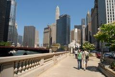 Alte costruzioni di aumento in Chicago Fotografia Stock Libera da Diritti