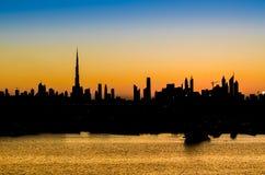 Alte costruzioni di aumento in Doubai, UAE Immagini Stock Libere da Diritti