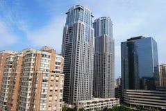Alte costruzioni di aumento a Toronto Fotografie Stock
