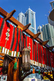 Alte costruzioni e vie di aumento nel Dubai, UAE Immagini Stock Libere da Diritti