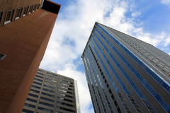 Alte costruzioni moderne di aumento Immagini Stock