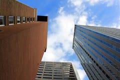 Alte costruzioni moderne di aumento Fotografie Stock