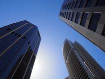 Alte costruzioni moderne di aumento Immagini Stock Libere da Diritti