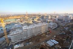 Alte costruzioni multipiano in costruzione Fotografia Stock