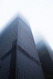 Alte costruzioni nella nebbia, New York Immagine Stock Libera da Diritti
