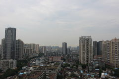 Alte costruzioni nelle zone residenziali difficili Fotografie Stock Libere da Diritti