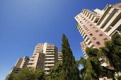 Alte costruzioni su cielo blu Immagine Stock Libera da Diritti