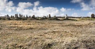 Alte cultic monolits in Bretagne, Frankreich Stockfotos