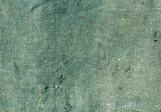 Alte cyan-blaue Baumwollstoffbeschaffenheit Lizenzfreie Stockfotos