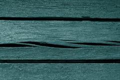Alte cyan-blaue verwitterte hölzerne Planken Stockfotografie