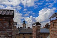 Alte Dächer Stockfotos