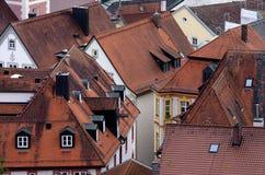 Alte Dächer der deutschen Stadt, Eichstaett, Bayern Lizenzfreie Stockfotos