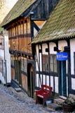 Alte dänische Häuser Stockfotos