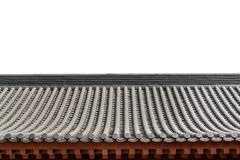 Alte Dachgesimse der chinesischen Art der Architektur Lizenzfreie Stockfotos