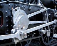 Alte Dampflokomotive des Schmutzes Stockfoto