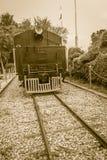 Alte Dampflokomotive seit 1925 an Bahnhof Hua Hins, thailändisch Lizenzfreie Stockfotos