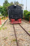 Alte Dampflokomotive seit 1925 an Bahnhof Hua Hins, thailändisch Stockfotografie