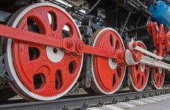 Alte Dampflokomotiveräder Stockbilder