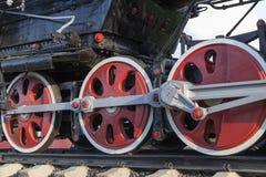 Alte Dampflokomotivnahaufnahme Lizenzfreie Stockfotografie