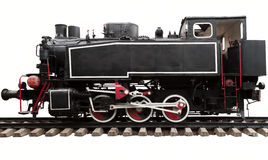 Alte Dampfmotorlokomotive Stockbild