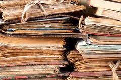 Alte Dateien Lizenzfreies Stockfoto