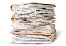 Alte Dateien, die oben in einer unordentlichen Bestellung stapeln Lizenzfreie Stockbilder