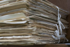 Alte Dateien im alten Ordner Lizenzfreie Stockbilder