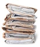 Alte Dateien vereinbart im chaotischen Stapel Lizenzfreie Stockfotografie