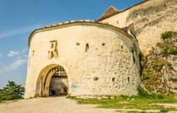 Alte defensive Festung Rasnov Sächsische Architektur von Rumänien Lizenzfreies Stockfoto