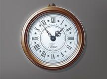 Alte dekorative alte Uhr Lizenzfreie Stockbilder