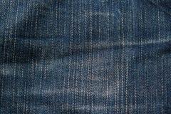 Alte Denimbaumwollstoffbeschaffenheit Lizenzfreies Stockfoto