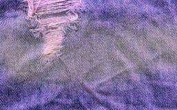 Alte Denimjapan-Baumwollstoffbeschaffenheit Denimjeans zerstörten Hintergrund Stockbilder