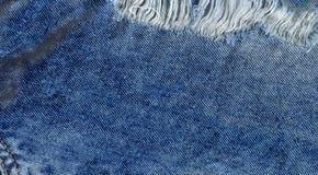 Alte Denimjapan-Baumwollstoffbeschaffenheit Denimjeans zerstörten Hintergrund Lizenzfreies Stockbild