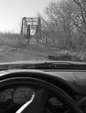 Alte der Brücke Seite Oolagah Oklahoma heraus Stockbild