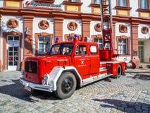 Alte deutsche Feuerwehr Motor- Magirus Deutz Lizenzfreie Stockbilder